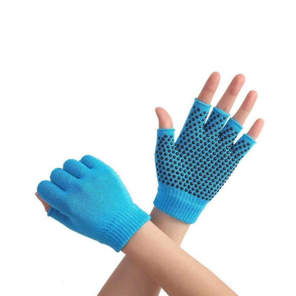 Non Slip Yoga Gloves for Women and Men for Yoga, Hot Yoga, Cycling, and for Sweaty Hands Yoga Blue MIER