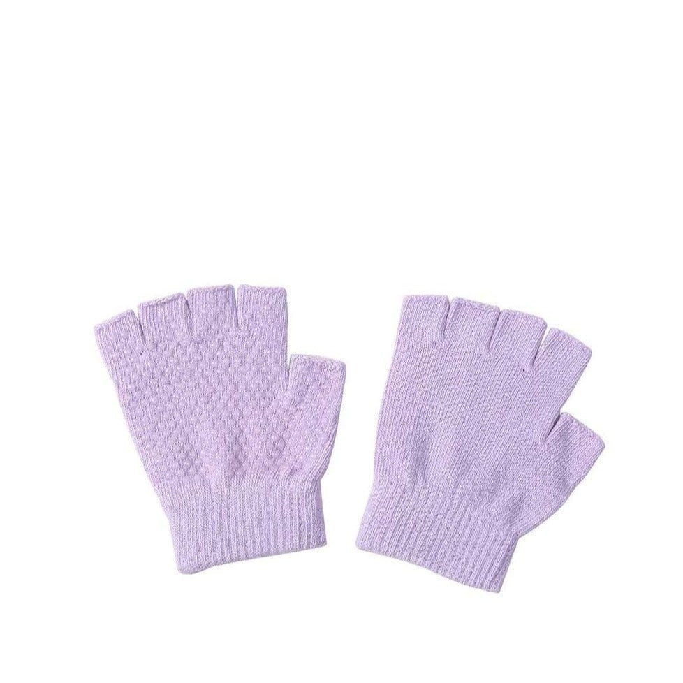 Non Slip Yoga Gloves for Women and Men for Yoga, Hot Yoga, Cycling, and for Sweaty Hands Yoga New Light Purple MIER