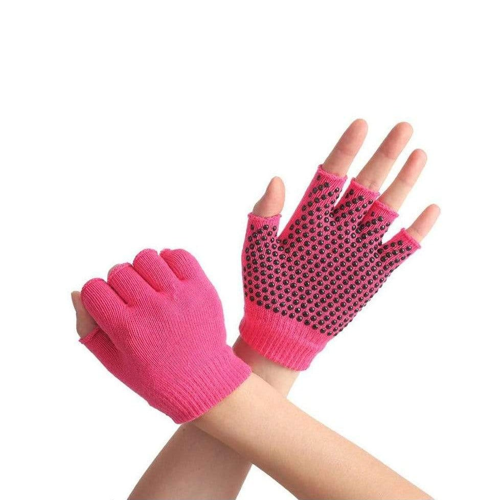 Non Slip Yoga Gloves for Women and Men for Yoga, Hot Yoga, Cycling, and for Sweaty Hands Yoga Rose Red MIER