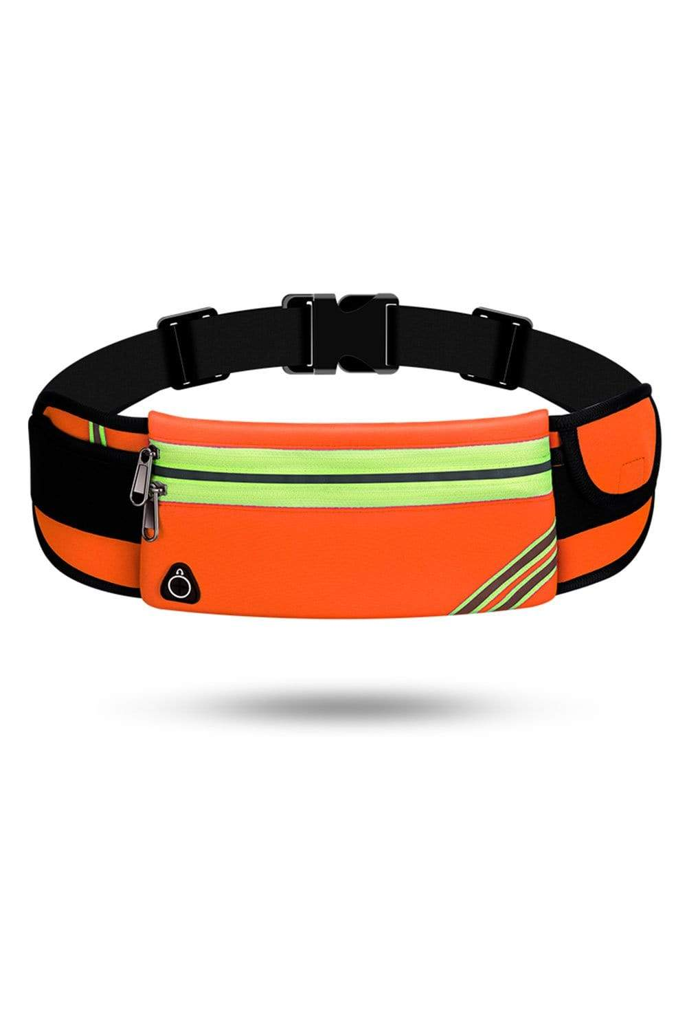 Running Waist Pack Bag, Workout Fanny Pack, Bounce Free Jogging Pocket Belt, Travelling Money Cell Phone Holder for Running Accessories Waist Bag Orange / Double Zippers MIER