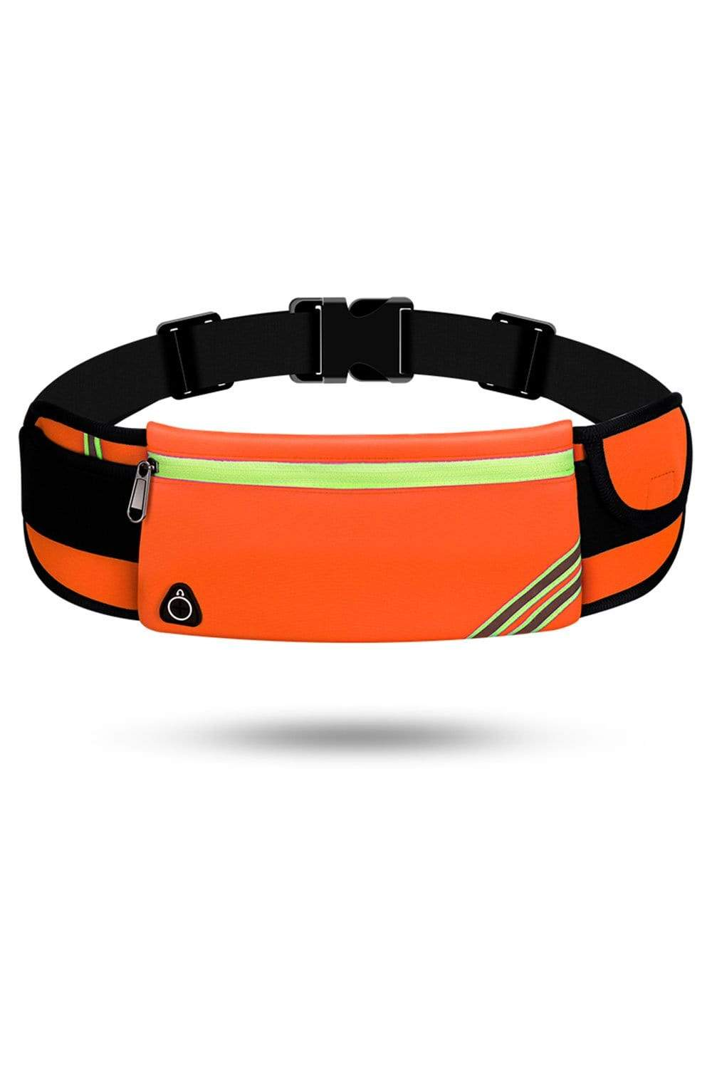 Running Waist Pack Bag, Workout Fanny Pack, Bounce Free Jogging Pocket Belt, Travelling Money Cell Phone Holder for Running Accessories Waist Bag Orange / Single Zipper MIER