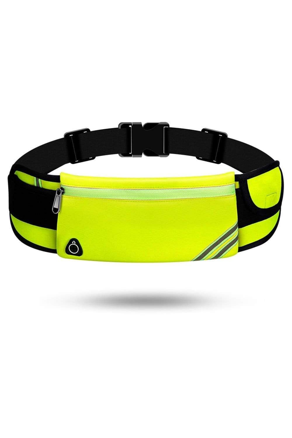 Running Waist Pack Bag, Workout Fanny Pack, Bounce Free Jogging Pocket, Travelling Money Cell Phone Holder Waist Bag Fluorescent Green / Single Zipper MIER