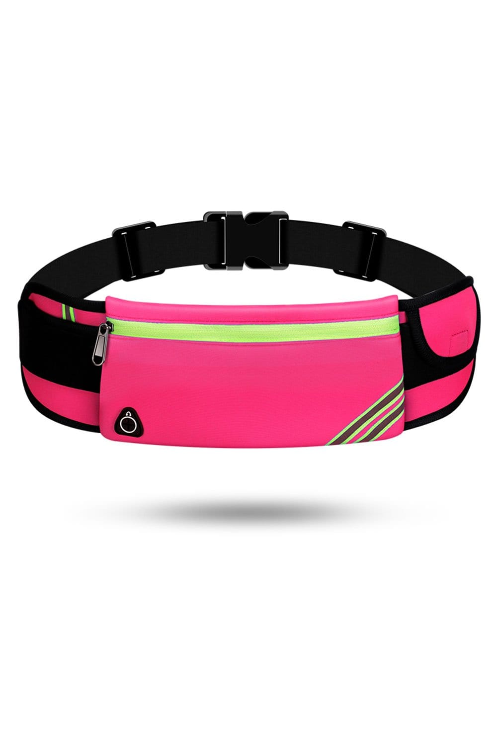 Running Waist Pack Bag, Workout Fanny Pack, Bounce Free Jogging Pocket, Travelling Money Cell Phone Holder Waist Bag Rose Red / Single Zipper MIER