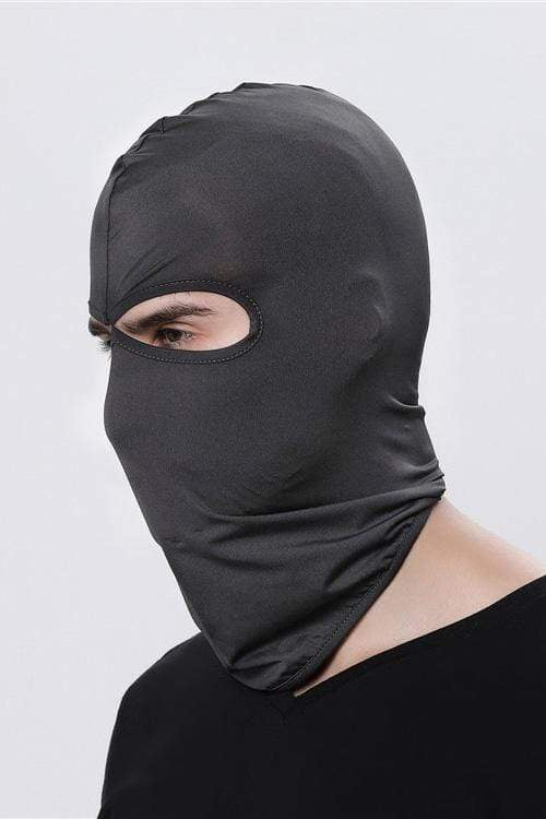 Sports Balaclava Cycling Face Mask with Eye Hollow Cycling Dark Gray MIER