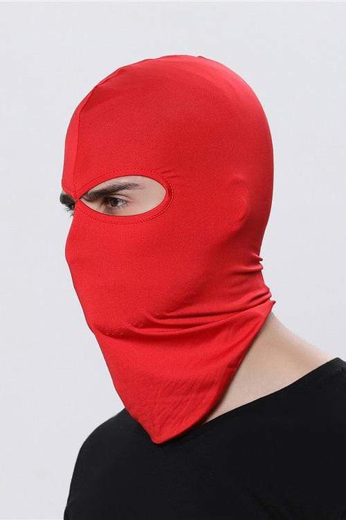 Sports Balaclava Cycling Face Mask with Eye Hollow Cycling Red MIER