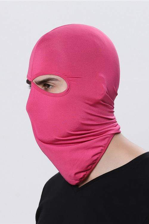 Sports Balaclava Cycling Face Mask with Eye Hollow Cycling Rose Red MIER