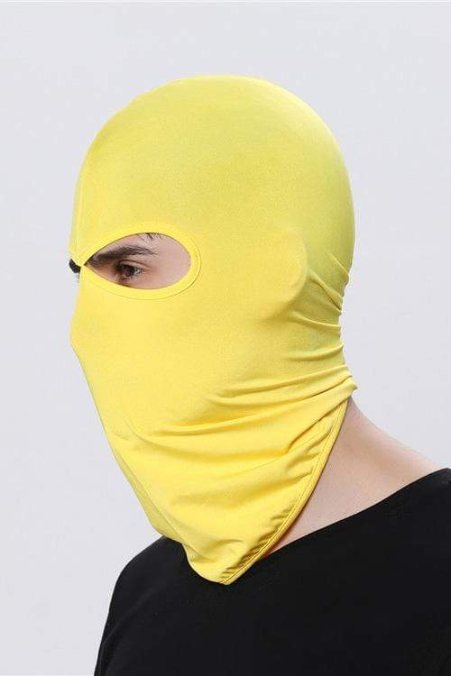 Sports Balaclava Cycling Face Mask with Eye Hollow Cycling Yellow MIER