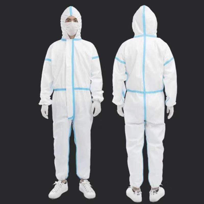 Stock CE FDA Protective Suit Disposable Coverall Isolation Nonwoven Clothing Disposable Coverall MIER