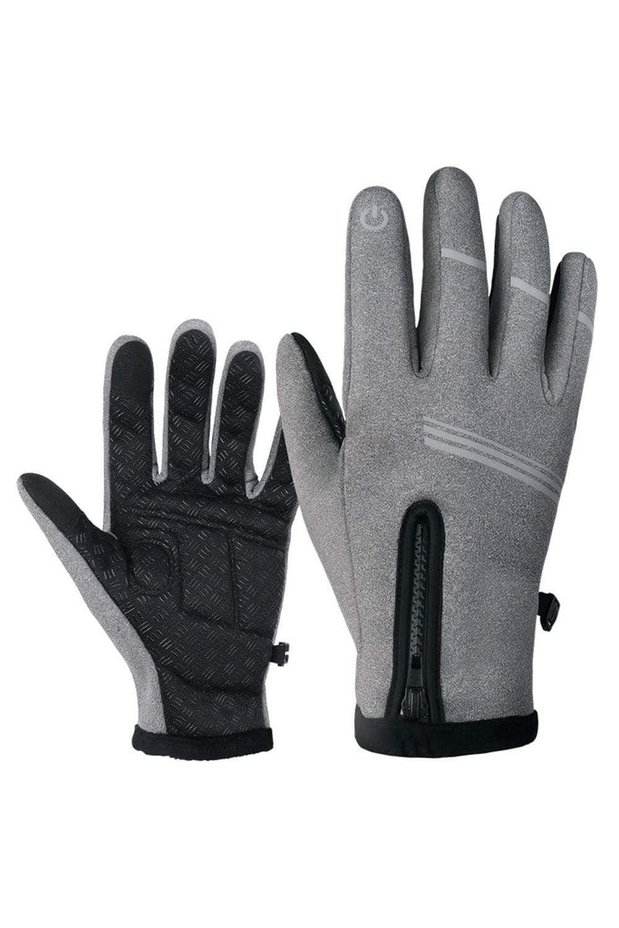 Winter Gloves Touch Screen Gloves Winter Warm Gloves for Hiking, Running, Cycling Gloves Grey / Medium MIER