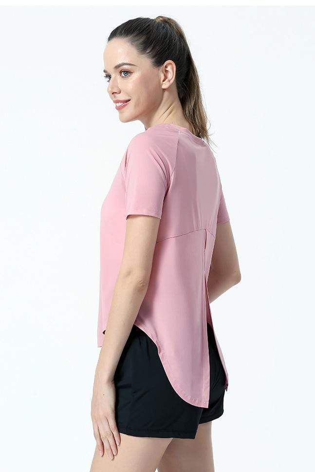 Women's Breathable Yoga Blouse Fitness Top Yoga MIER
