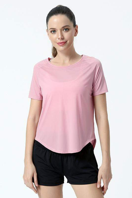 Women's Breathable Yoga Blouse Fitness Top Yoga Rose Red / S MIER
