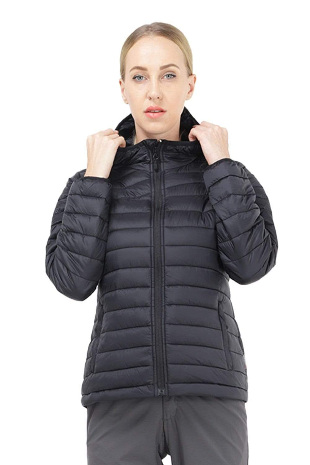 Women's Packable Puffer Jacket With Hood coats XS / Black MIER