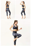 Women′s Yoga Pattern Print Sports Bra Pants Set Yoga MIER