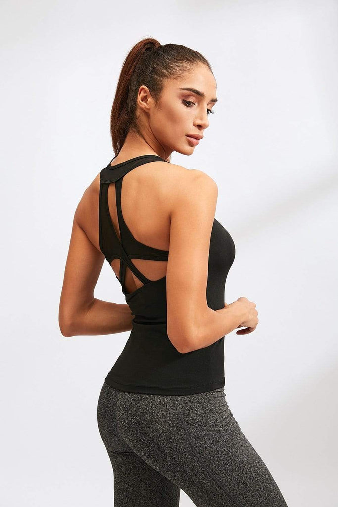 Women's Yoga Sexy Tight-fitting Vest Quick-drying High Elasticity Breathable Vest MIERSPORTS