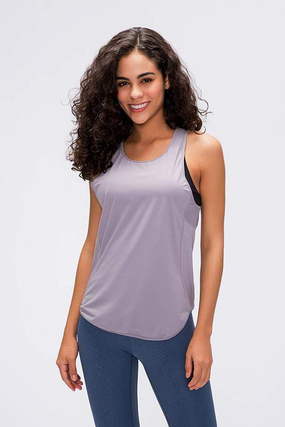 Women's Yoga Shirts Short Sleeve Gym Tank Tops MIERSPORTS
