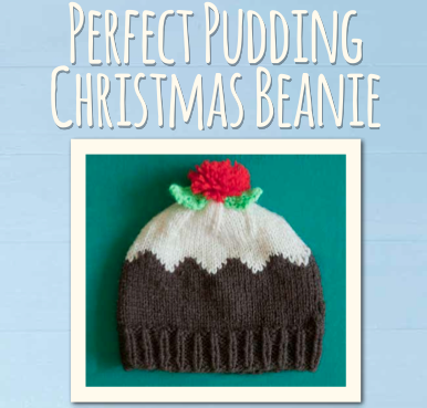 "PATTERN ""Perfect Pudding"" Cutest Christmas hat"