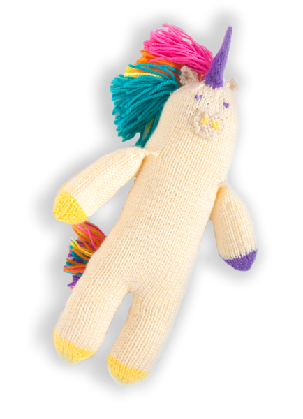 "The cuddliest knitted toy unicorn | ""Rainbow Unicorn"""