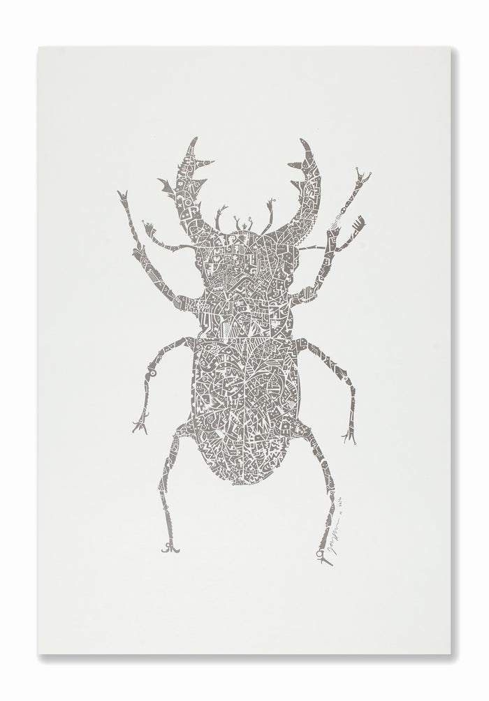 Stag Beetle | Silver