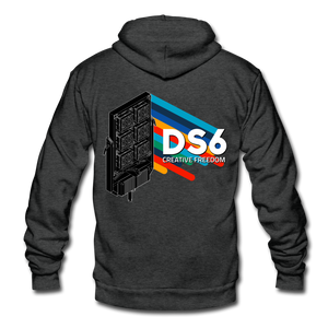 DS6 Unisex Fleece Zip Hoodie - charcoal gray
