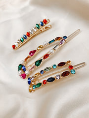 Rainbow Barrette Set