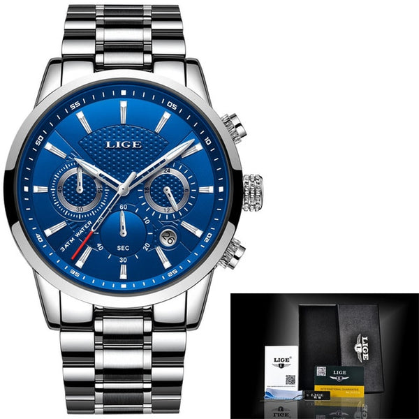 LIGE Quartz Mens Watch