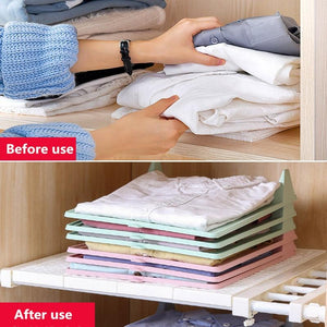 Closet Organizer - 100% resistant and recyclable (5 PIECES) - GenieMania Fr