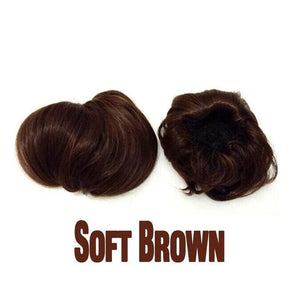 Bundle Hair Bun and Bangs Set - GenieMania Fr