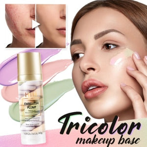 Rainbow Tricolor Makeup Base - GenieMania Fr