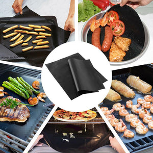 Reusable Non-Stick BBQ Grill Mat (set of 2) - GenieMania Fr