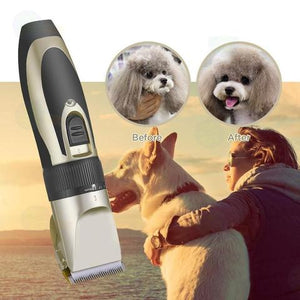 The HOMEGROOMER™ Low Noise Pet Hair Clipper - GenieMania Fr
