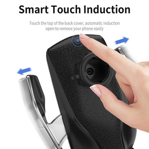 Smart Wireless Automatic Sensor Car Phone Holder Charger - GenieMania Fr