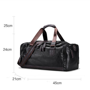 STYLISH LEATHER TRAVEL WEEKEND BAG - GenieMania Fr