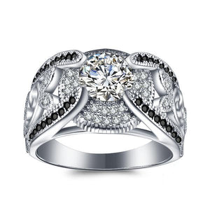 Princess Zircon Silver Ring