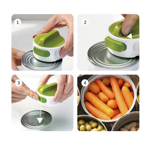 Stainless Steel Can Opener Manual Rotation - GenieMania Fr