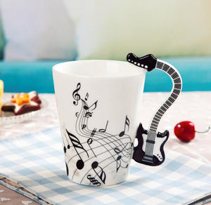 Novelty Guitar Ceramic Mug