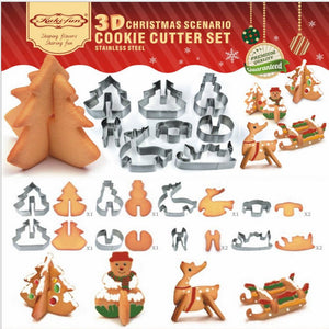 3D CHRISTMAS SCENARIO COOKIE CUTTER SET