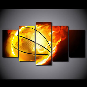 Flame basketball Canvas