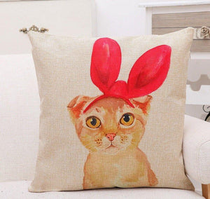 Limited Edition Cat Pillow Cover Case - GenieMania Fr