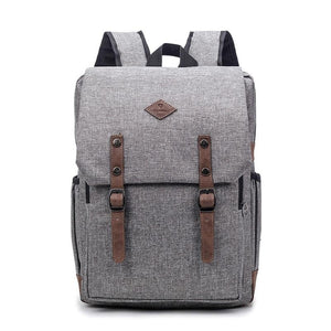 15INCH NYLON UNISEX LAPTOP SCHOOL BACKPACK [5 VARIANTS]