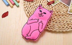 Cute 3D Soft Silicon Cat Case