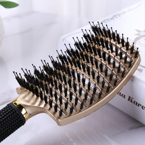 SilkyHair™ Boar Bristle Hair Brush - GenieMania Fr