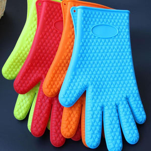 Extra Thick BBQ And Oven Silicone Glove - GenieMania Fr