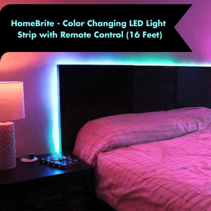 HomeBrite - Color Changing LED Strip with Remote Control (5 meters) - GenieMania Fr