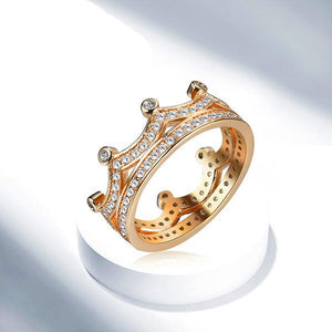 Crown Queen Gold Ring