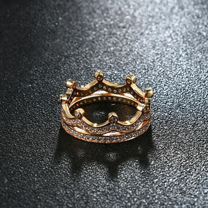 Crown Queen Gold Ring - GenieMania Fr