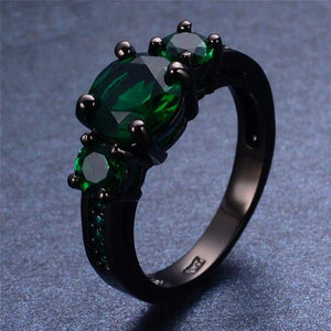 May Black Gold Filled Ring - GenieMania Fr