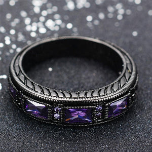 June Black Gold Filled Ring - GenieMania Fr