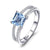 March Aquamarine Queen Ring - GenieMania Fr