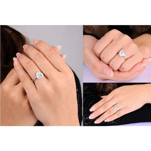 Classic Heart Diamond Princess Ring