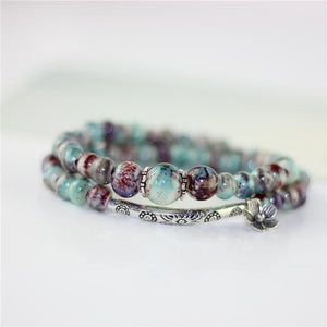 Unique Ceramic Bead Bracelet